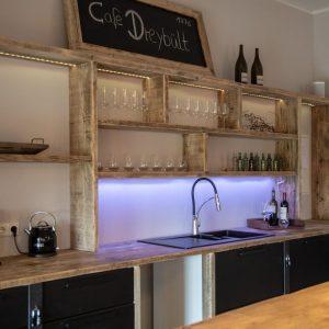 Küche - Gemeinschaftsraum - Feieren- Ferienwohnungen Gulfhof Dreybült
